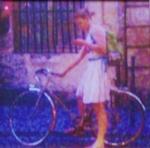 Impresionistická cyklistka